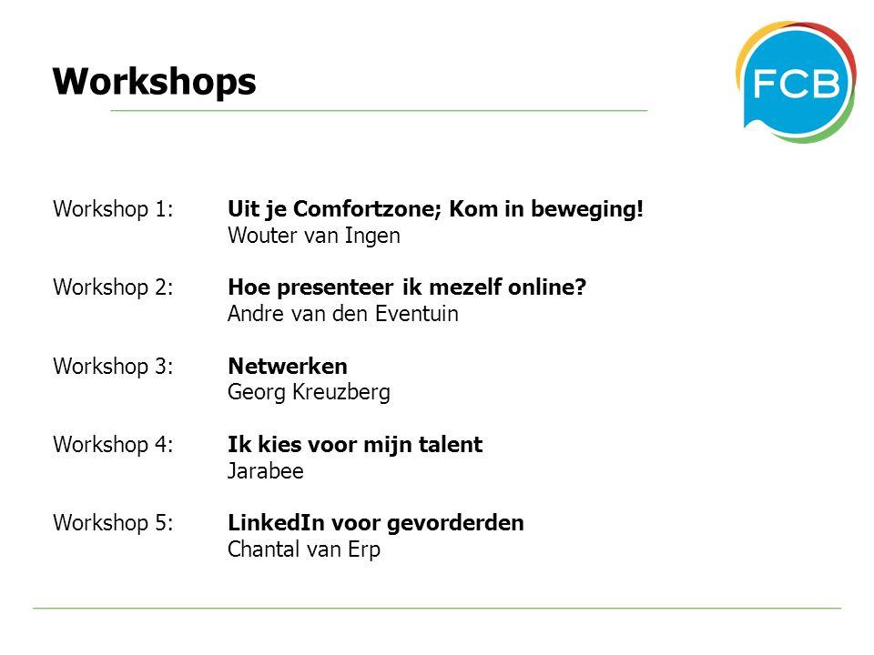 Workshops Workshop 1: Uit je Comfortzone; Kom in beweging.