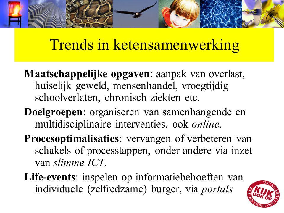 Trends in ketensamenwerking Maatschappelijke opgaven: aanpak van overlast, huiselijk geweld, mensenhandel, vroegtijdig schoolverlaten, chronisch ziekt