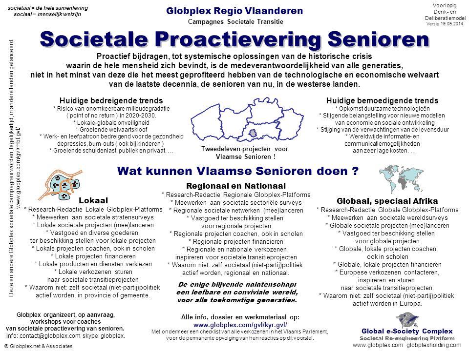 Globplex Regio Vlaanderen Campagnes Societale Transitie Societale Proactievering Senioren Alle info, dossier en werkmateriaal op: www.globplex.com/gvl
