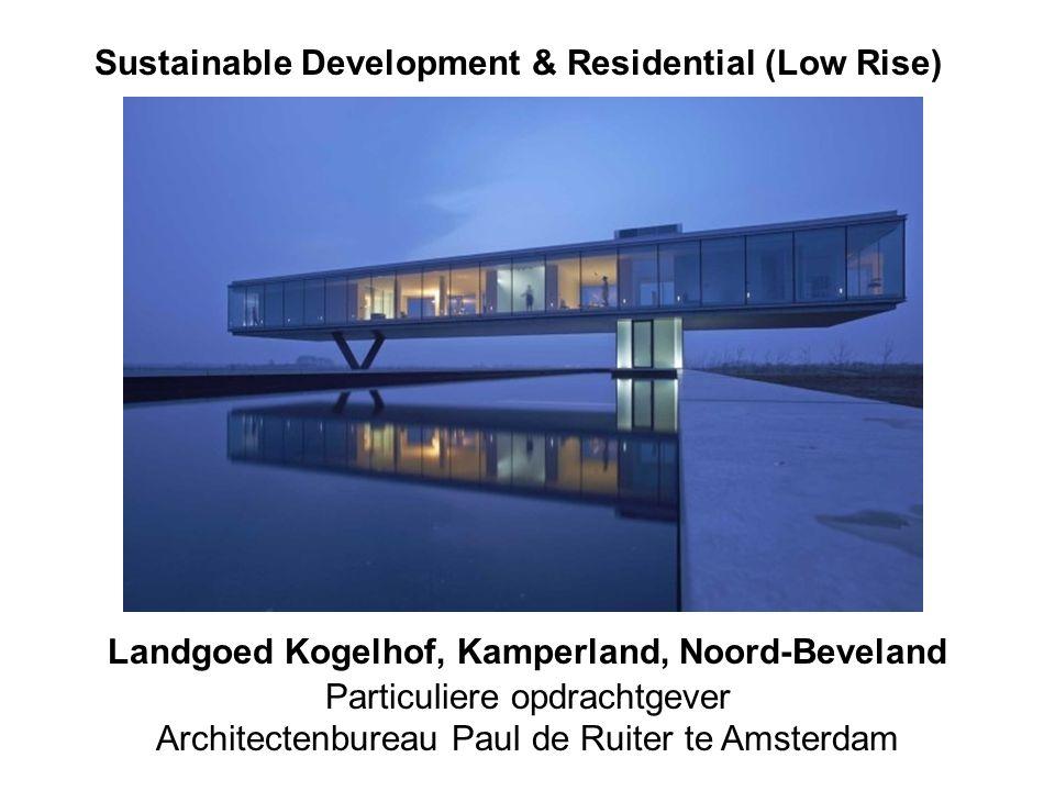 kogelhof 2 Sustainable Development & Residential (Low Rise) Landgoed Kogelhof, Kamperland, Noord-Beveland Particuliere opdrachtgever Architectenbureau Paul de Ruiter te Amsterdam