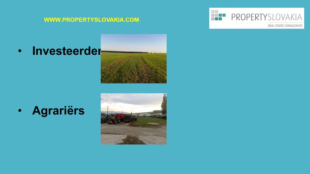 Investeerders Agrariërs WWW.PROPERTYSLOVAKIA.COM