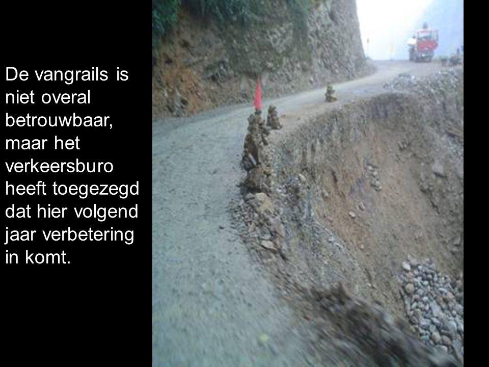 De vangrails is niet overal betrouwbaar, maar het verkeersburo heeft toegezegd dat hier volgend jaar verbetering in komt.