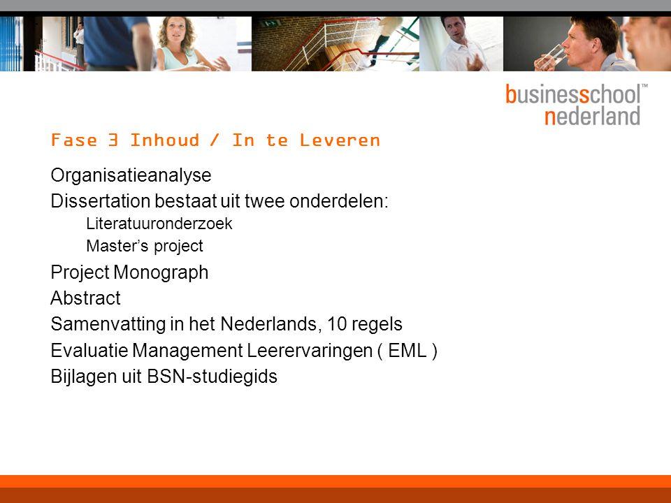 Fase 3 Intervisie Kortom:een weg om te professionaliseren en kwaliteitsverbetering te zoeken Collegiale ondersteuning Onderlinge advisering bij studie en/of werk problemen Een leergroep bestaande uit gelijken Tot inzichten en evt.