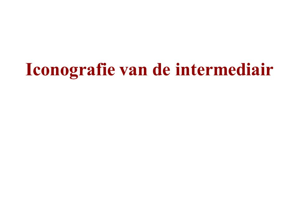 Iconografie van de intermediair