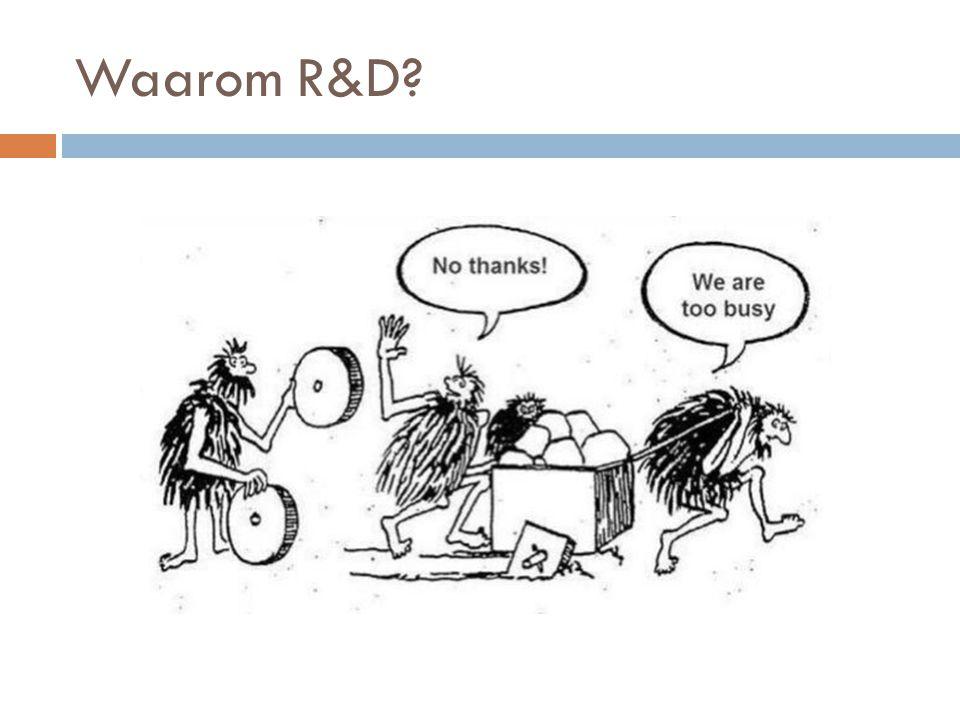 Waarom R&D?