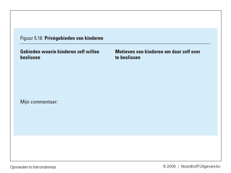 Opvoeden in het onderwijs © 2009 | Noordhoff Uitgevers bv