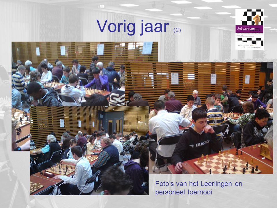Vorig jaar (2) Foto's van het Leerlingen en personeel toernooi