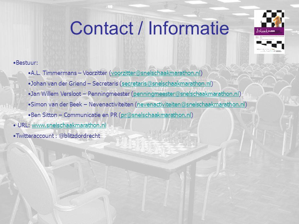 Contact / Informatie Bestuur: A.L.