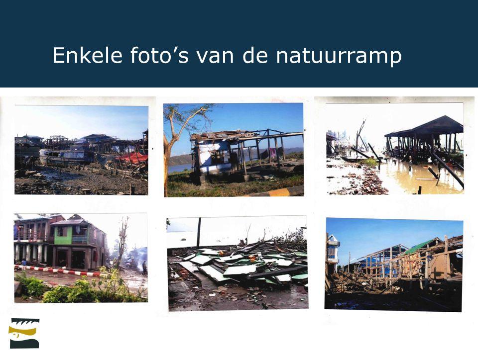 Enkele foto's van de natuurramp