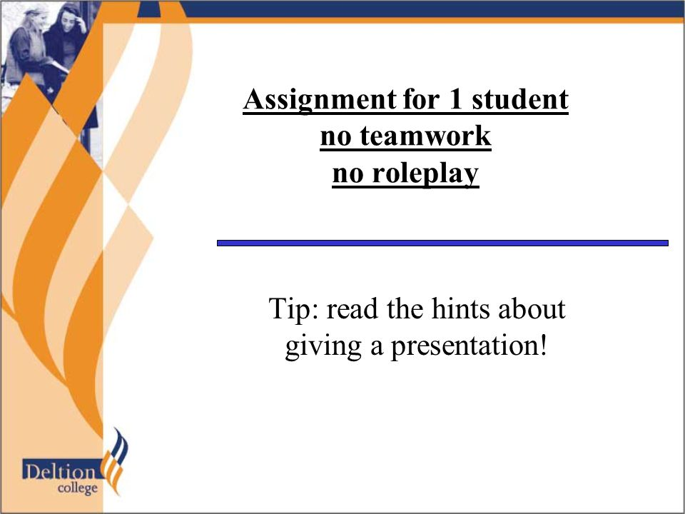 »Presentation 1.You may have to reread your chosen book.