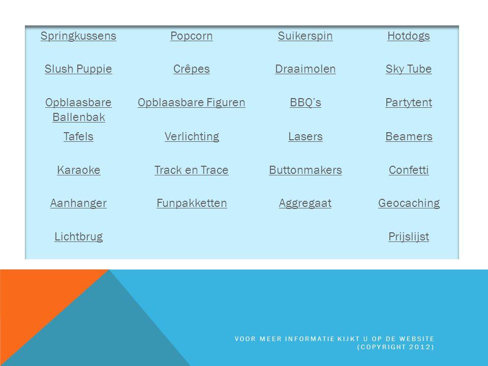 AGGREGAAT 2600 Watt Terug naar Inhoudsopgave VOOR MEER INFORMATIE KIJKT U OP DE WEBSITE (COPYRIGHT 2012)