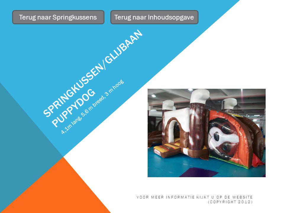 Terug naar Inhoudsopgave VOOR MEER INFORMATIE KIJKT U OP DE WEBSITE (COPYRIGHT 2012)