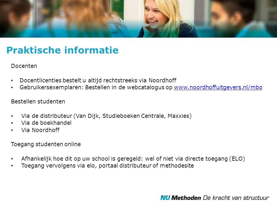 Docenten Docentlicenties bestelt u altijd rechtstreeks via Noordhoff Gebruikersexemplaren: Bestellen in de webcatalogus op www.noordhoffuitgevers.nl/m