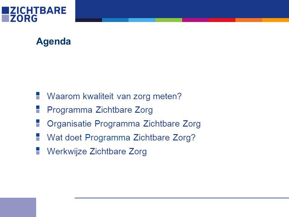 Agenda Waarom kwaliteit van zorg meten.