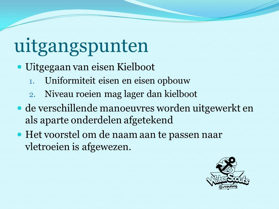 uitgangspunten Uitgegaan van eisen Kielboot 1. Uniformiteit eisen en eisen opbouw 2.