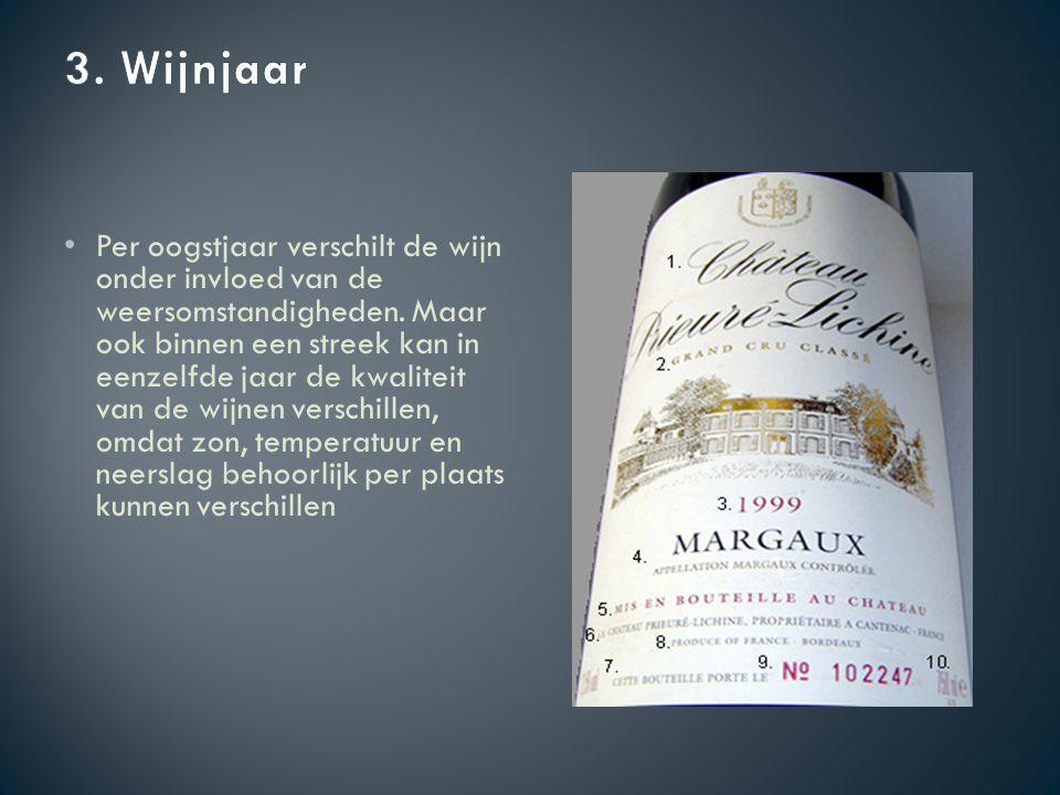Per oogstjaar verschilt de wijn onder invloed van de weersomstandigheden.