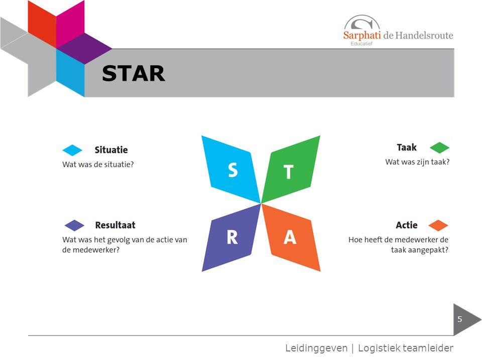 5 Leidinggeven | Logistiek teamleider STAR