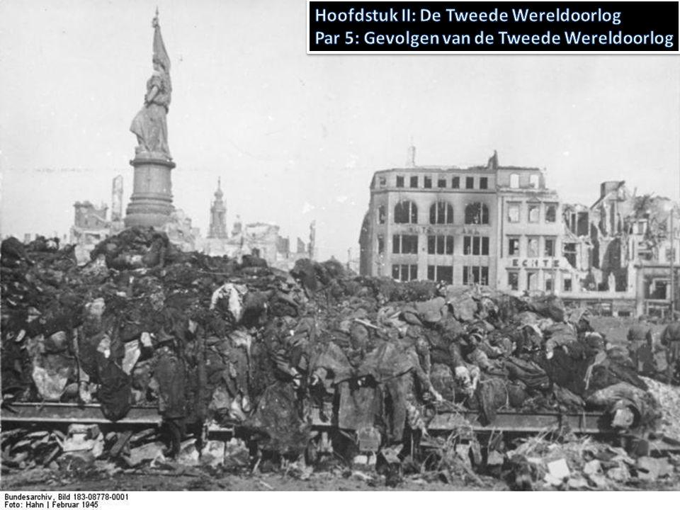 Ongeveer 40 miljoen slachtoffers wereldwijd – Hiervan meer dan de helft in de Sovjet-Unie Ongeveer 250.000 Nederlanders – 106.000 joodse slachtoffers – Verzetslieden – Militairen incl.