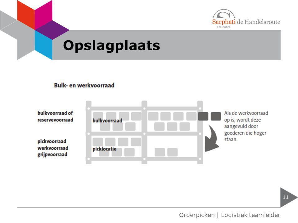Opslagplaats 11 Orderpicken | Logistiek teamleider
