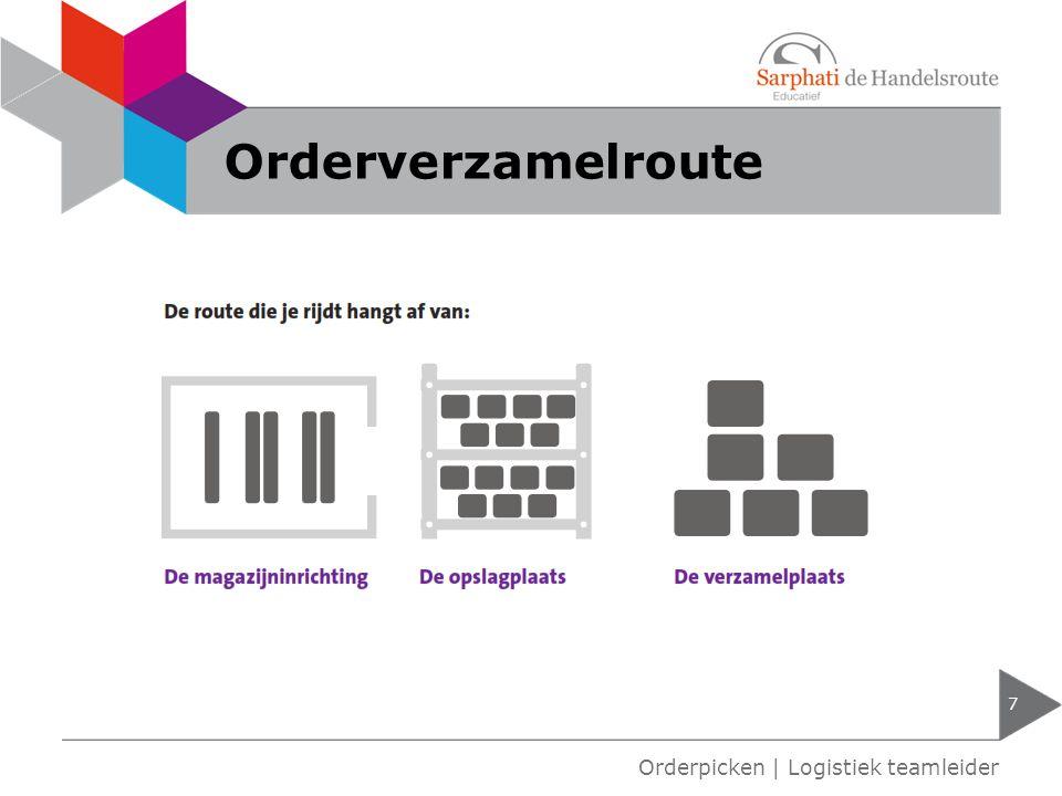 Orderverzamelroute 7 Orderpicken | Logistiek teamleider