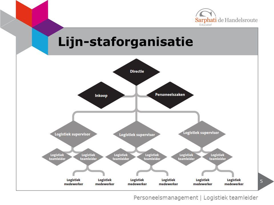 5 Personeelsmanagement | Logistiek teamleider Lijn-staforganisatie