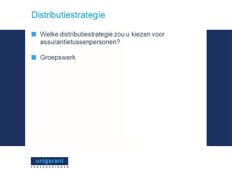 Distributiestrategie Welke distributiestrategie zou u kiezen voor assurantietussenpersonen.