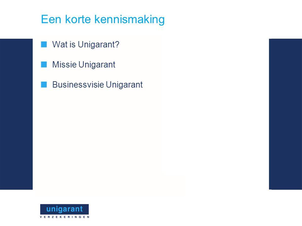 Een korte kennismaking Wat is Unigarant Missie Unigarant Businessvisie Unigarant