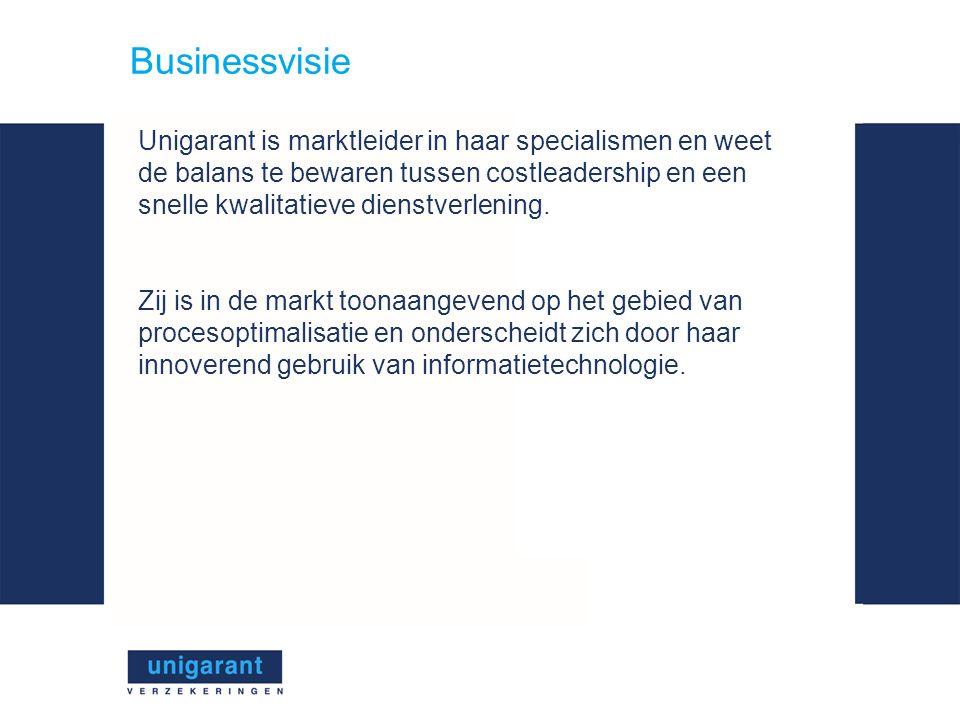 Businessvisie Unigarant is marktleider in haar specialismen en weet de balans te bewaren tussen costleadership en een snelle kwalitatieve dienstverlening.