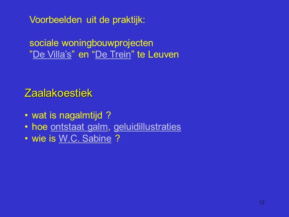 12 Voorbeelden uit de praktijk: sociale woningbouwprojecten De Villa's en De Trein te LeuvenDe Villa'sDe Trein Zaalakoestiek wat is nagalmtijd .