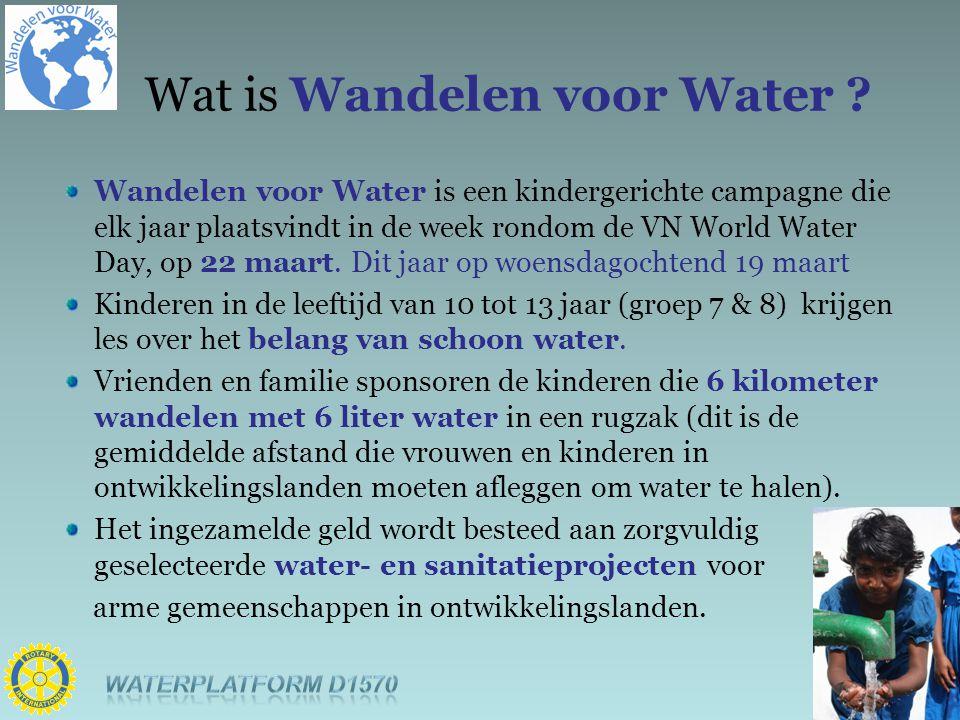 Wandelen voor Water is een kindergerichte campagne die elk jaar plaatsvindt in de week rondom de VN World Water Day, op 22 maart. Dit jaar op woensdag