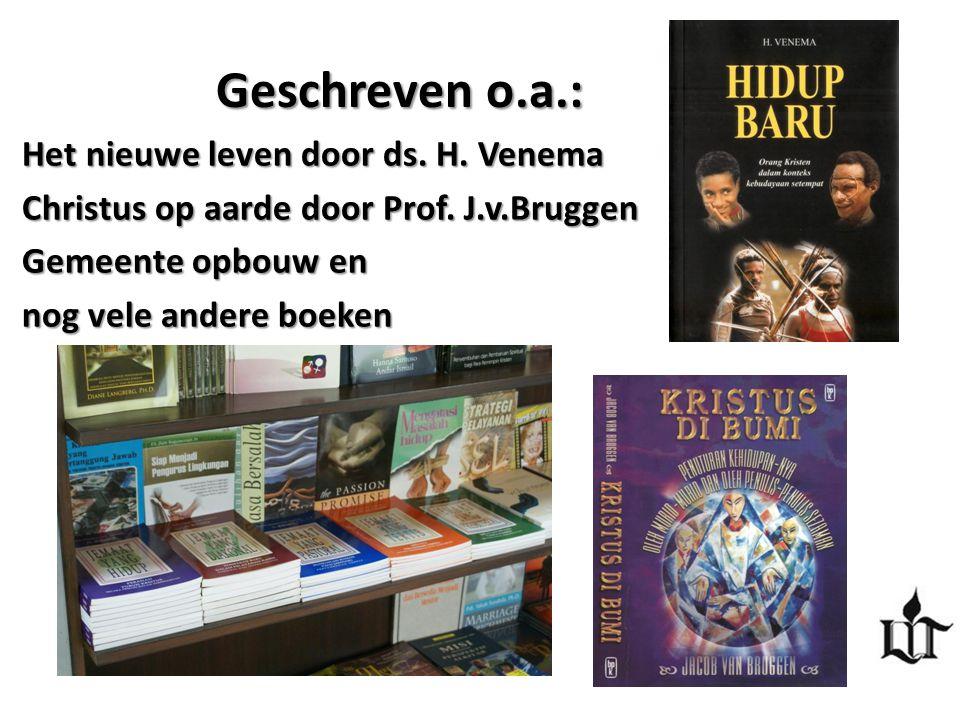 Geschreven o.a.: Het nieuwe leven door ds. H. Venema Christus op aarde door Prof. J.v.Bruggen Gemeente opbouw en nog vele andere boeken