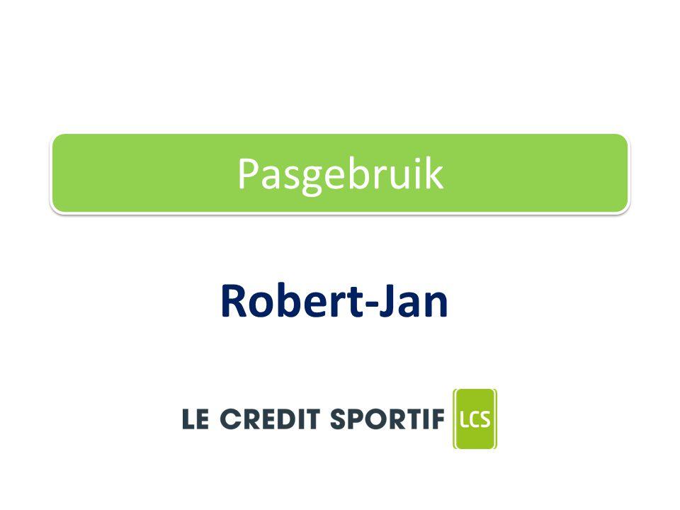 Robert-Jan Pasgebruik