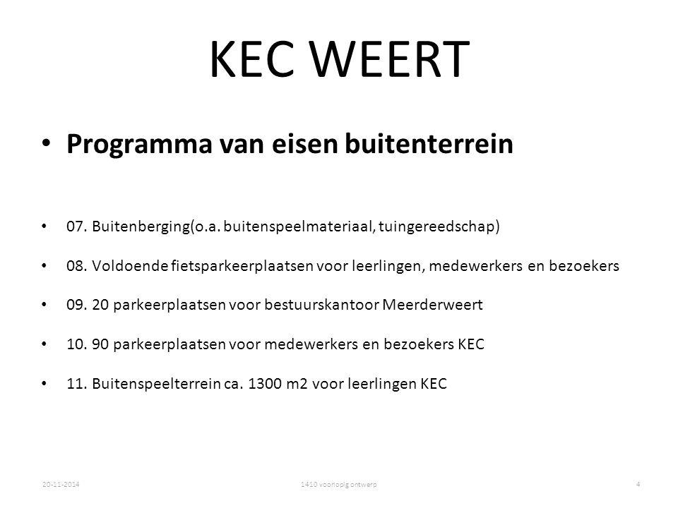 1410 voorlopig ontwerp20-11-2014 KEC WEERT Programma van eisen buitenterrein 07.
