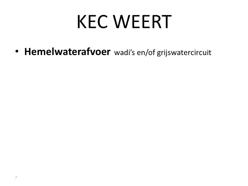KEC WEERT Hemelwaterafvoer wadi's en/of grijswatercircuit 7