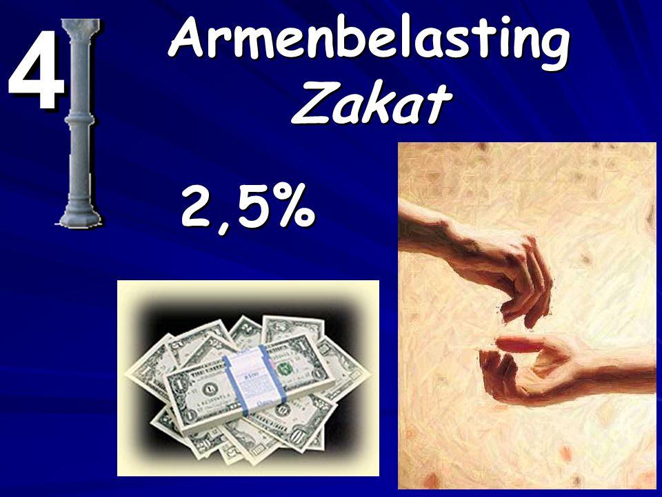 4 4 Armenbelasting Zakat 2,5%