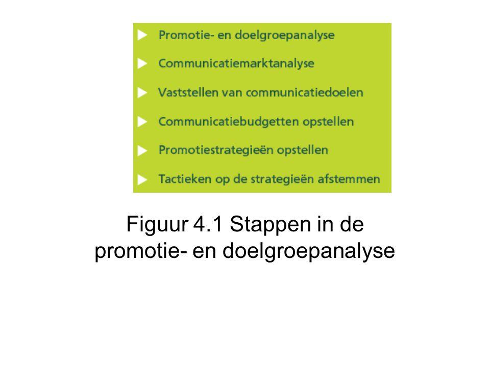 Figuur 4.1 Stappen in de promotie- en doelgroepanalyse