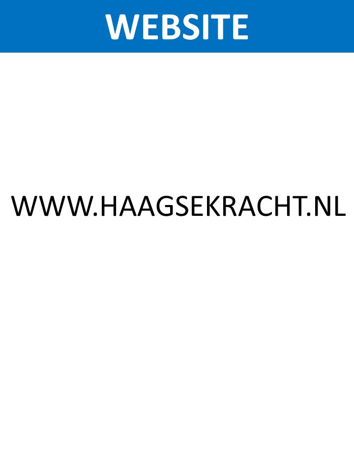 WEBSITE WWW.HAAGSEKRACHT.NL