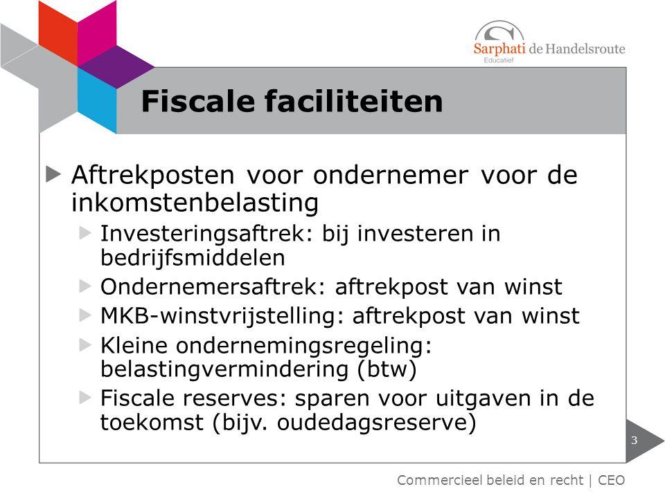 Aftrekposten voor ondernemer voor de inkomstenbelasting Investeringsaftrek: bij investeren in bedrijfsmiddelen Ondernemersaftrek: aftrekpost van winst