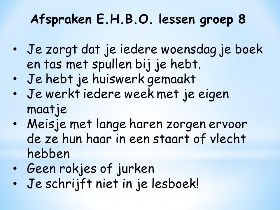 Afspraken E.H.B.O.