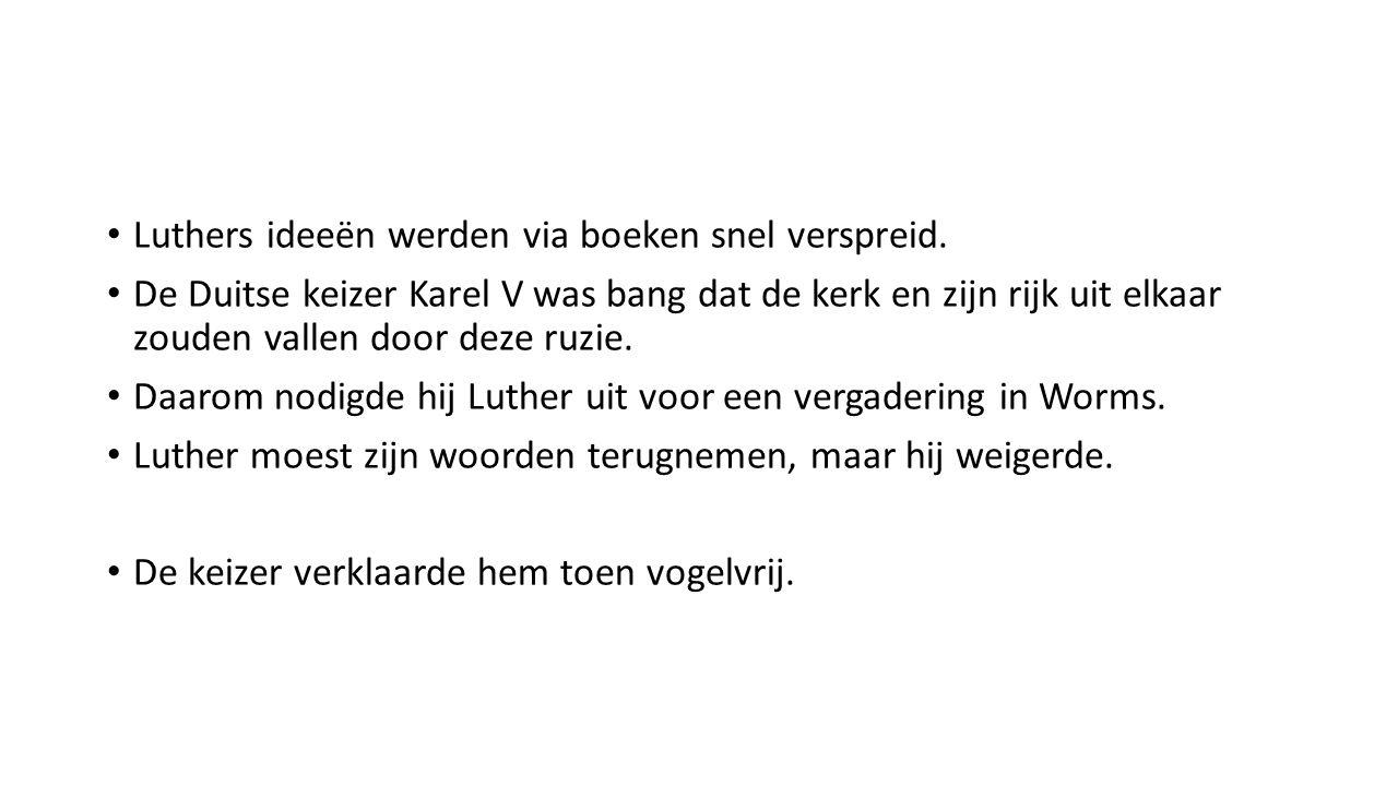 Een andere Duitse lagere vorst, nam Luther in bescherming.