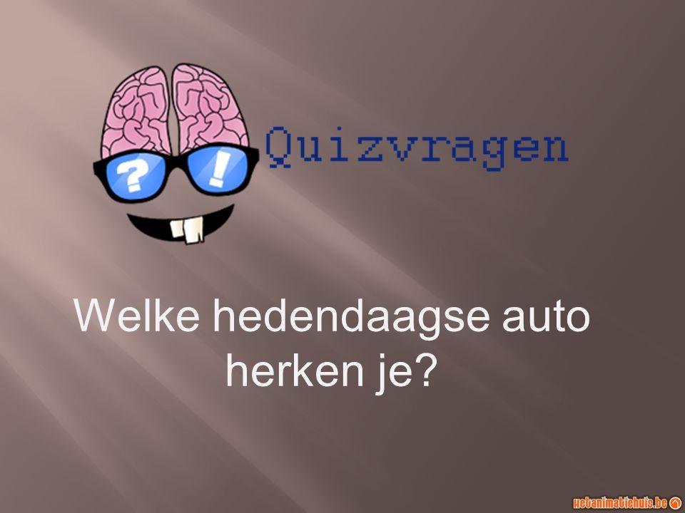 Welke hedendaagse auto herken je?