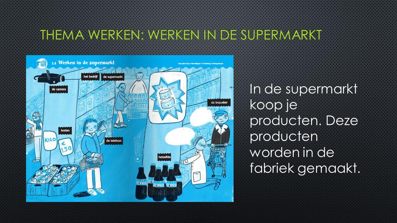 In de supermarkt koop je producten. Deze producten worden in de fabriek gemaakt.