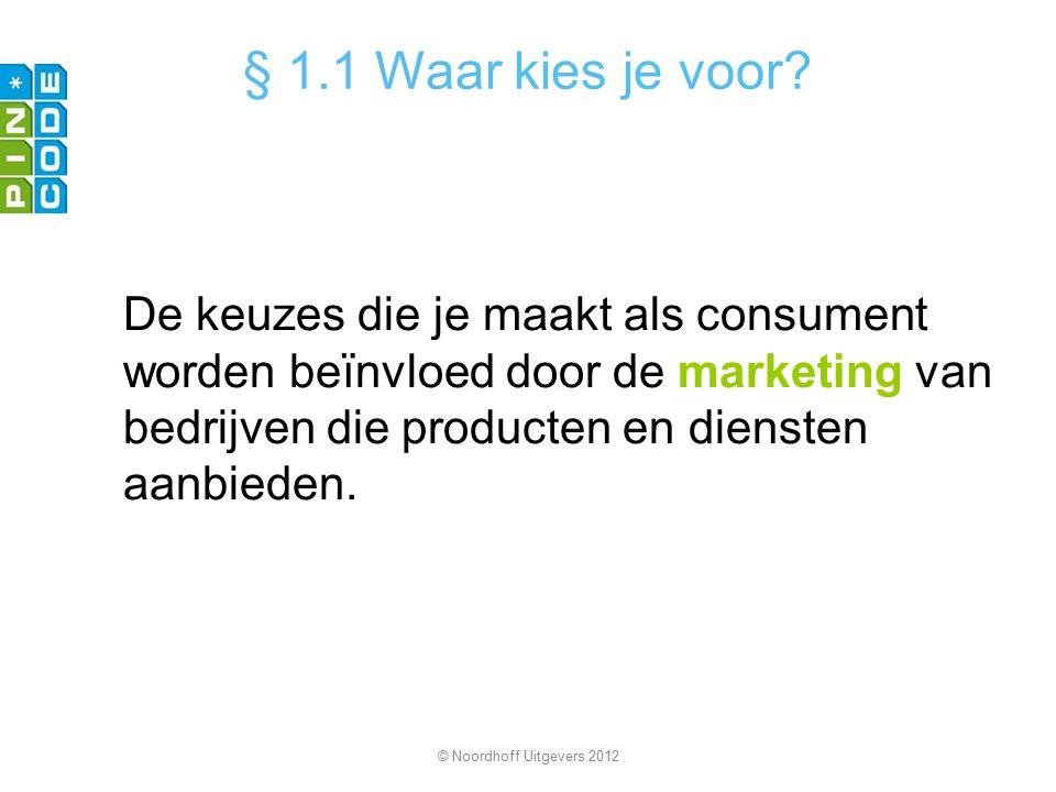 Alles wat een bedrijf doet om producten en diensten zo goed mogelijk te verkopen noem je marketing.