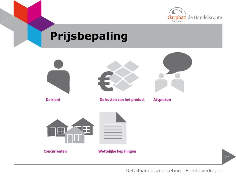 Prijsbepaling 10 Detailhandelsmarketing | Eerste verkoper