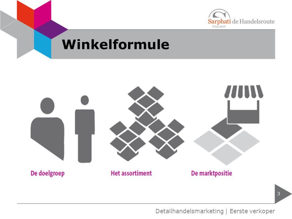 Winkelformule 3 Detailhandelsmarketing | Eerste verkoper