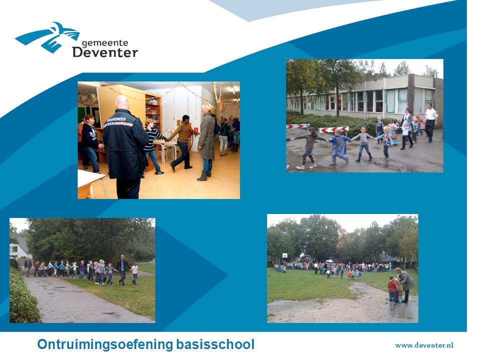 Ontruimingsoefening basisschool