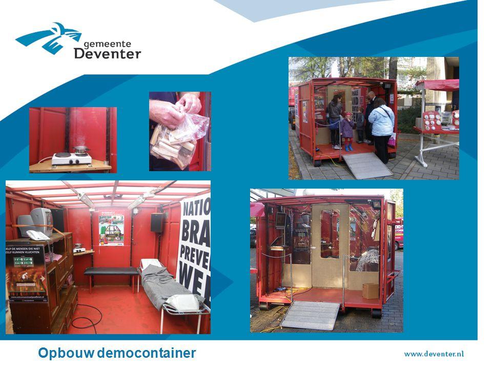 Opbouw democontainer