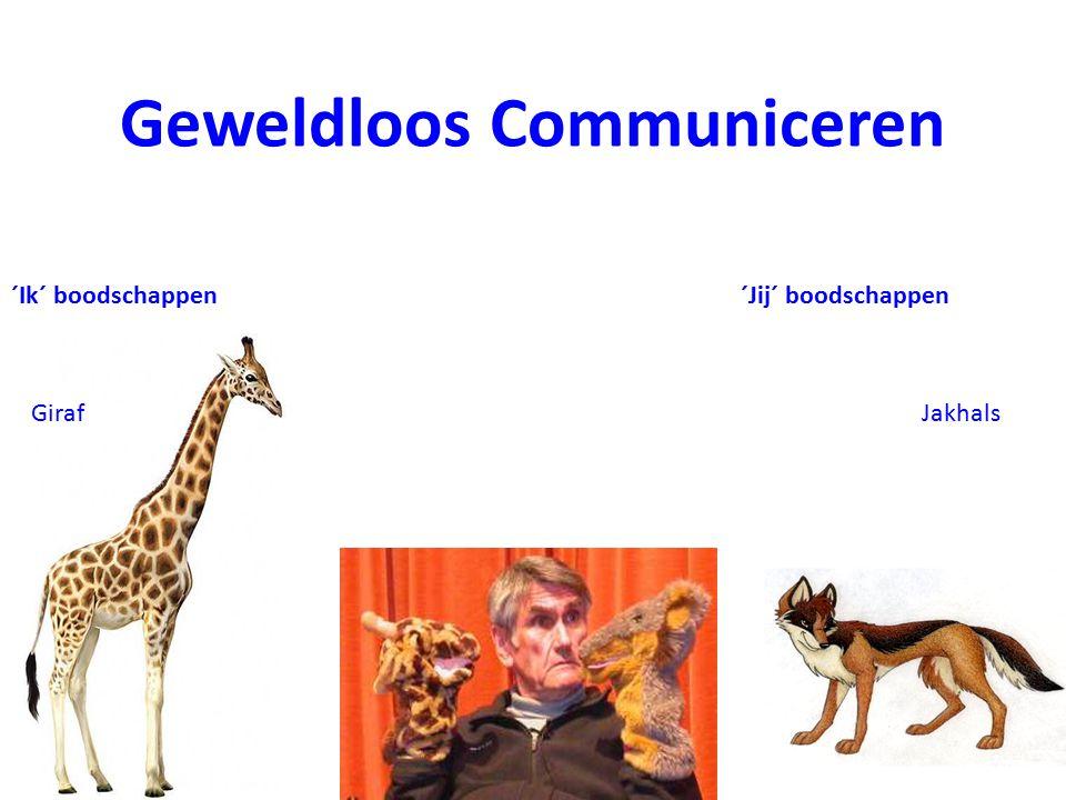 Jakhals ´Ik´ boodschappen Giraf ´Jij´ boodschappen Geweldloos Communiceren