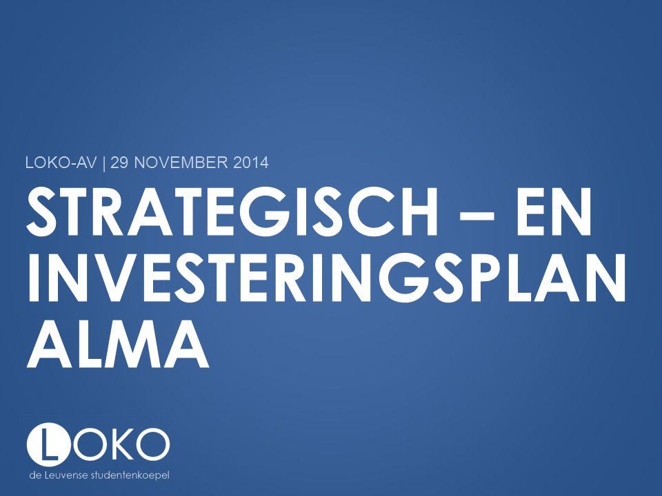 STRATEGISCH – EN INVESTERINGSPLAN ALMA LOKO-AV | 29 NOVEMBER 2014