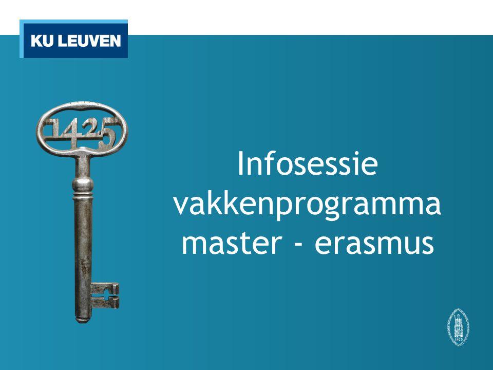 Infosessie vakkenprogramma master - erasmus